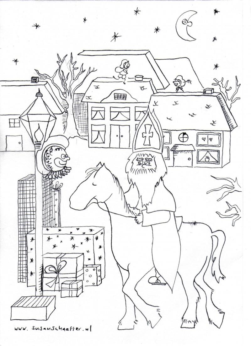 Sinterklaas Kleurplaat Lesmonsters Nl
